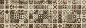 Плитка Newker Gala 20x60 Mosaico Cube Brown